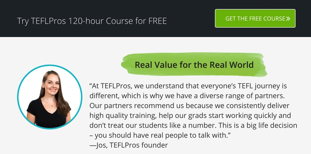 best 120 hour tefl course