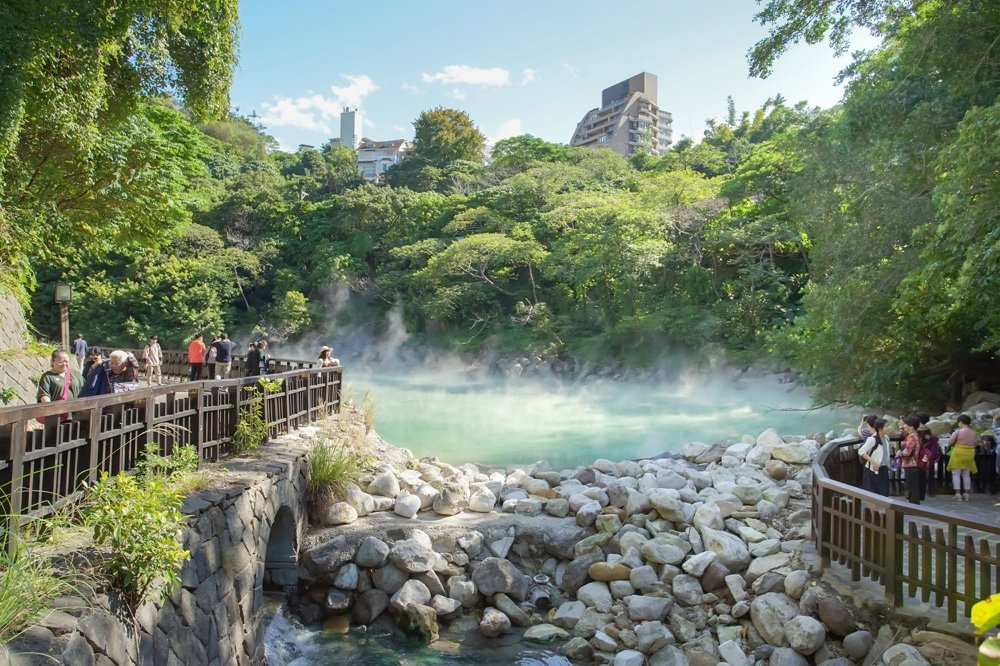 Beitou hot springs taipei