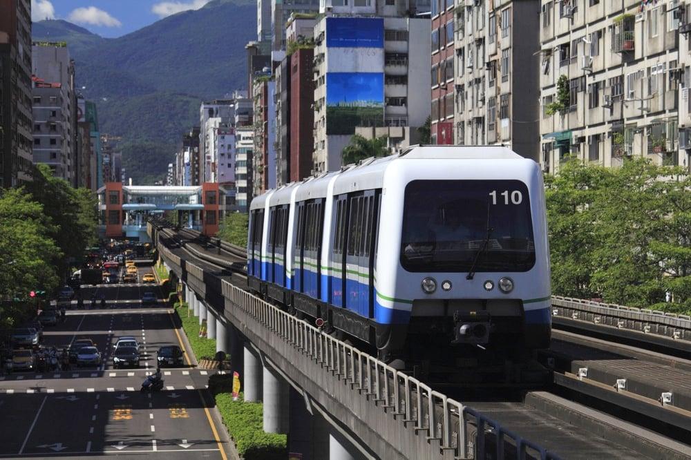 MRT transit in taipei taiwan