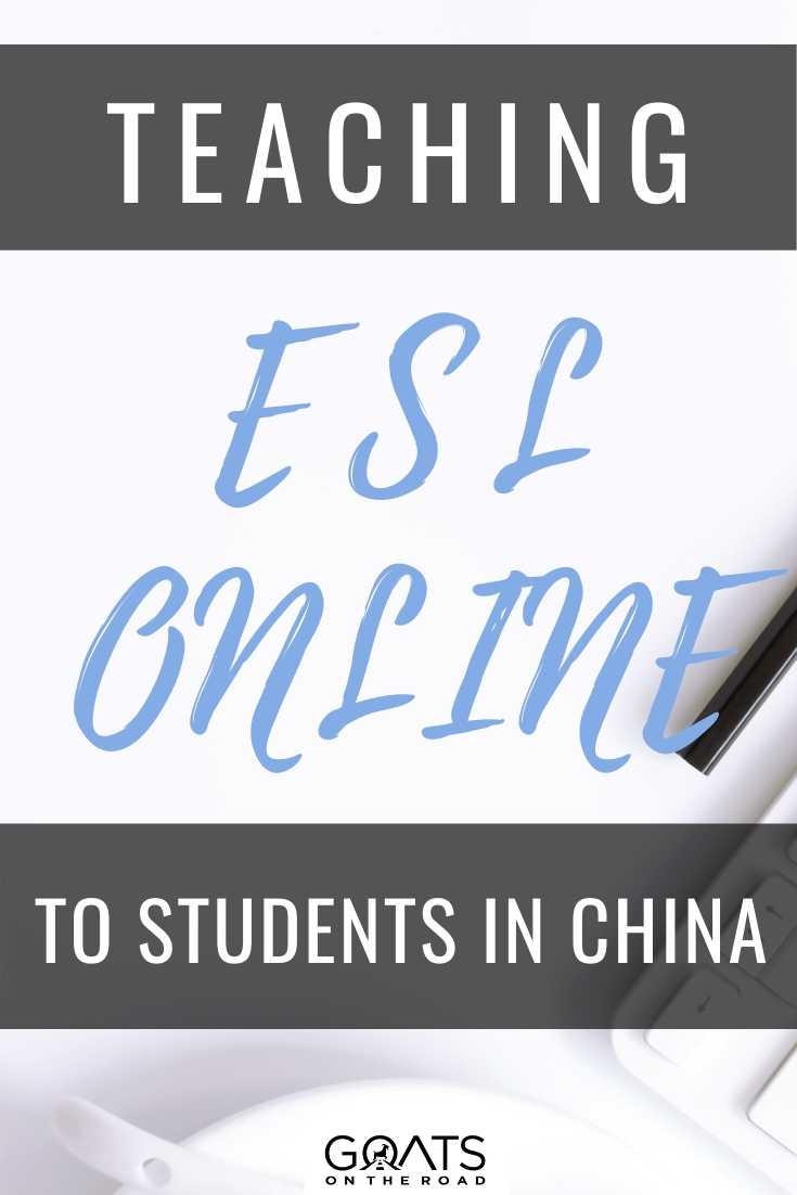 Teaching ESL Online To Students in China