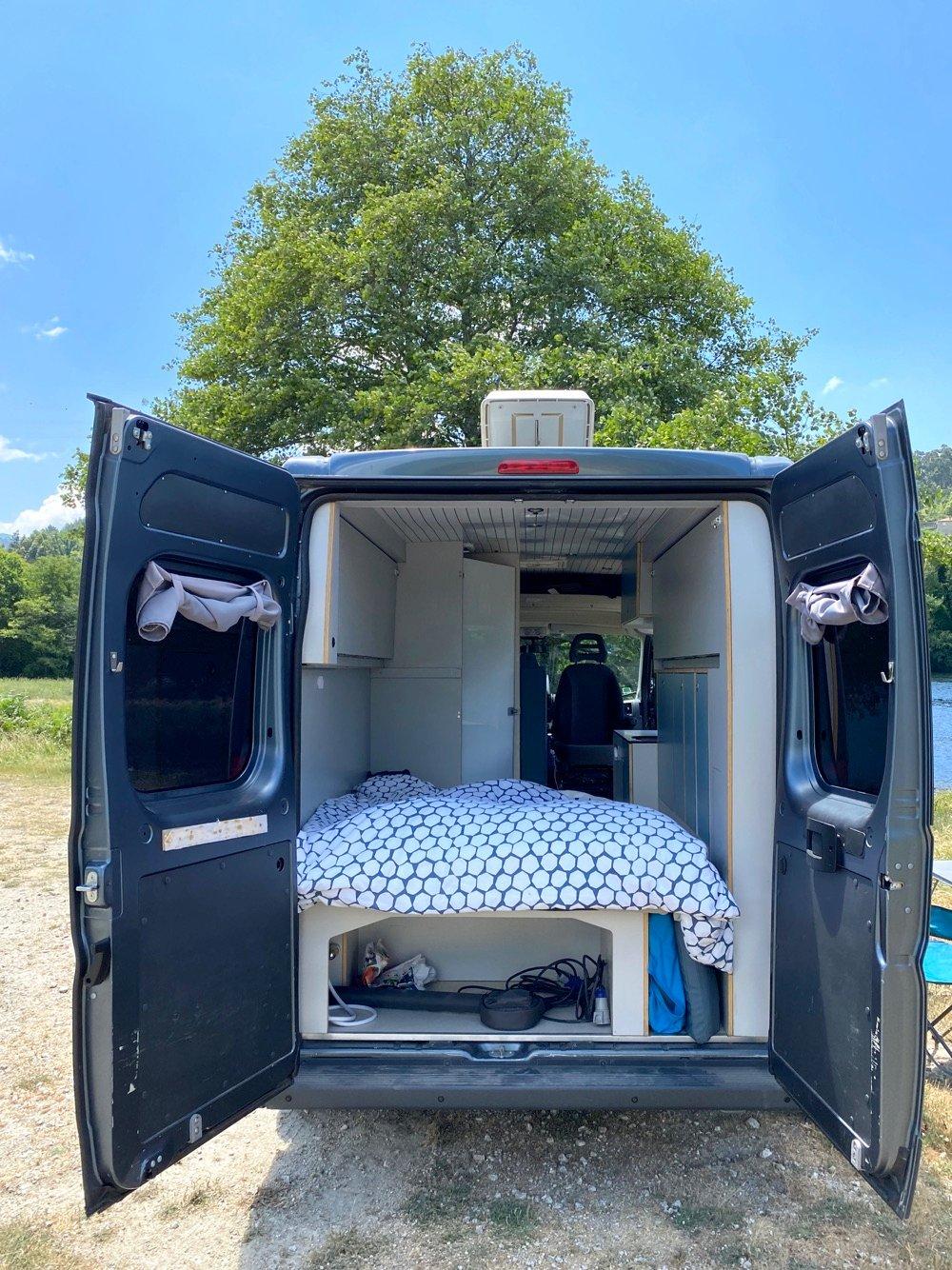 back end of campervan