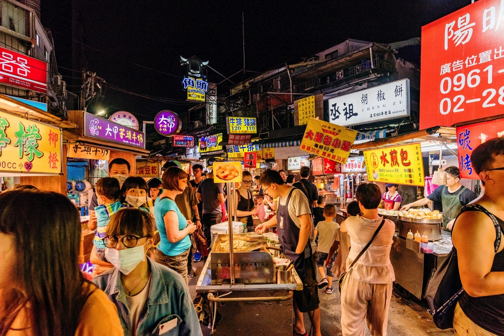 night market in taipei taiwan