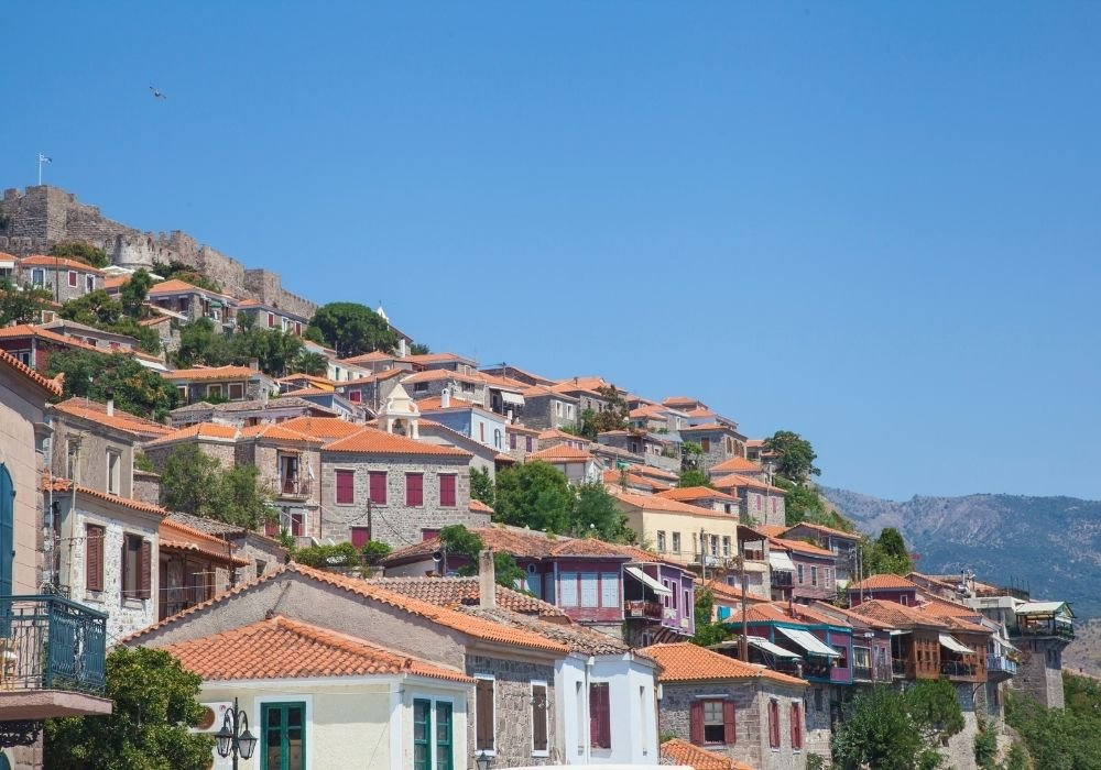 town of petra in lesvos places in greece
