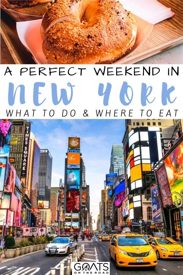 """""""A Perfect Weekend in New York"""