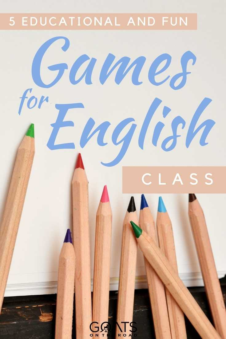 """""""5 Educational and Fun Games For English Class"""