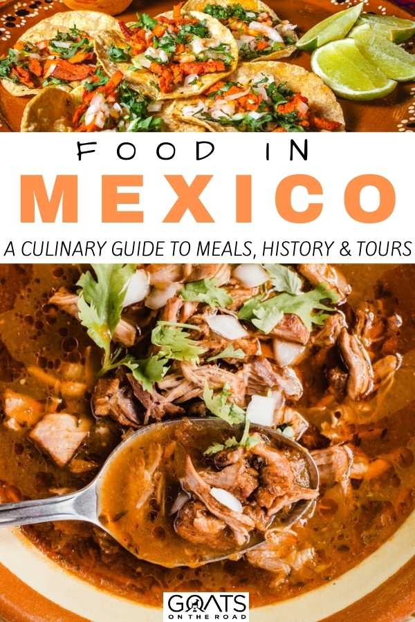 """Food in Mexico: A Culinary Guide to Meals, History and Tours"
