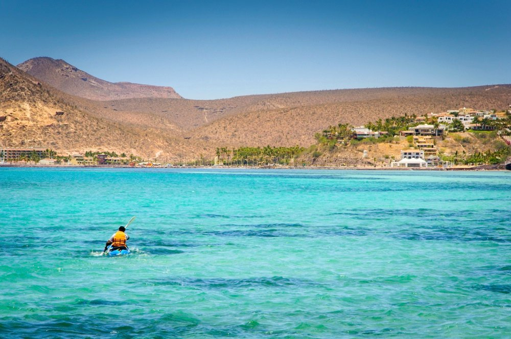 Kayaking in Balandra Beach, things to do in La Paz, Mexico