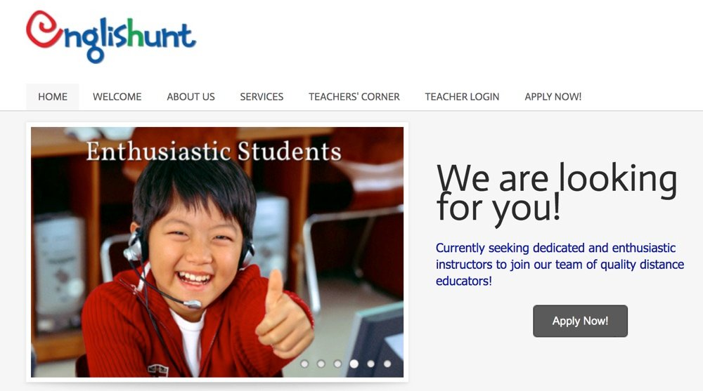 online english classes for koreans with english hunt