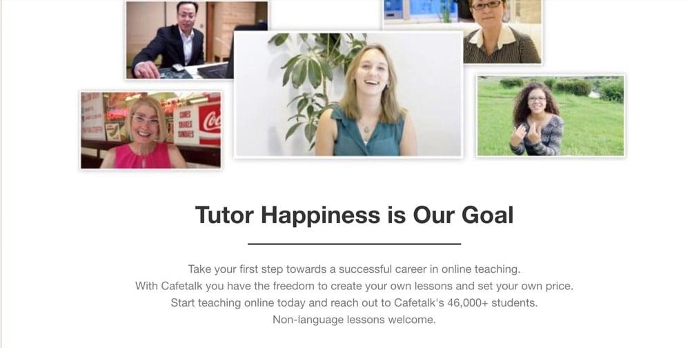 teaching english online korea with cafe talk