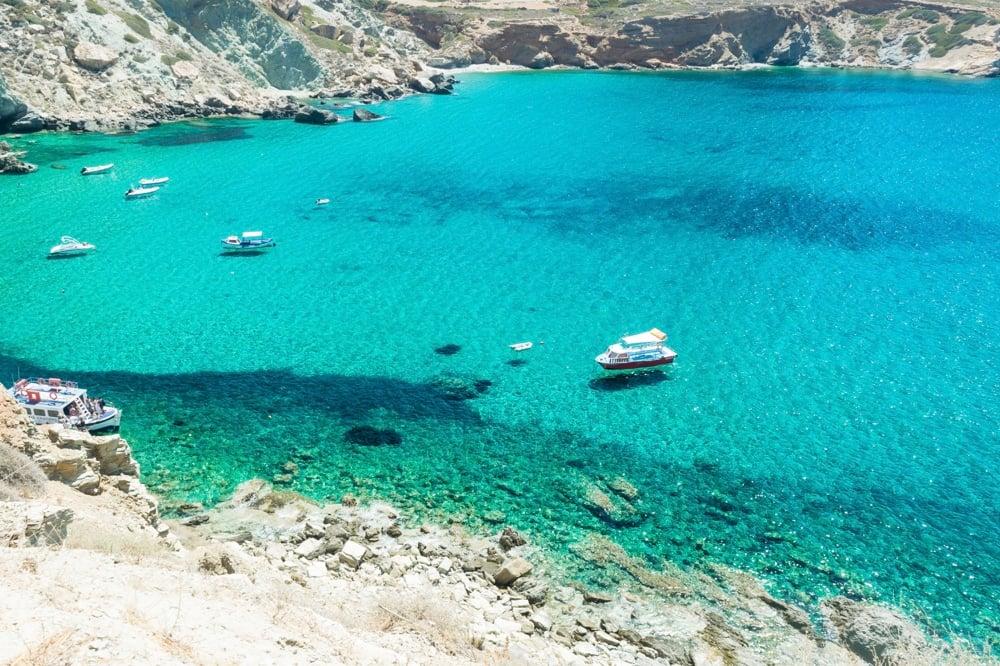 Folegandros beaches in greece