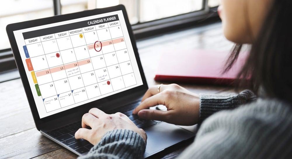 time management for freelancers use a calendar