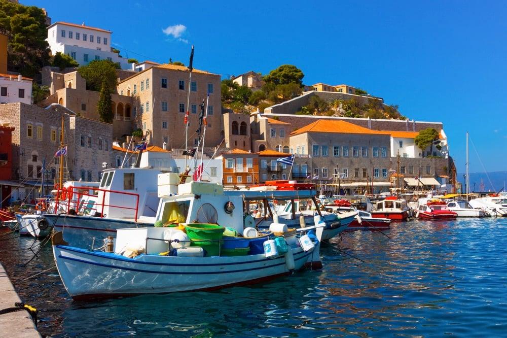 hydra town in greece