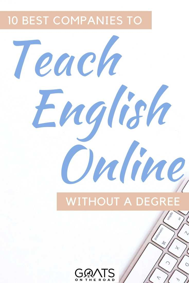 """""""10 Best Companies To Teach English Online Without A Degree"""