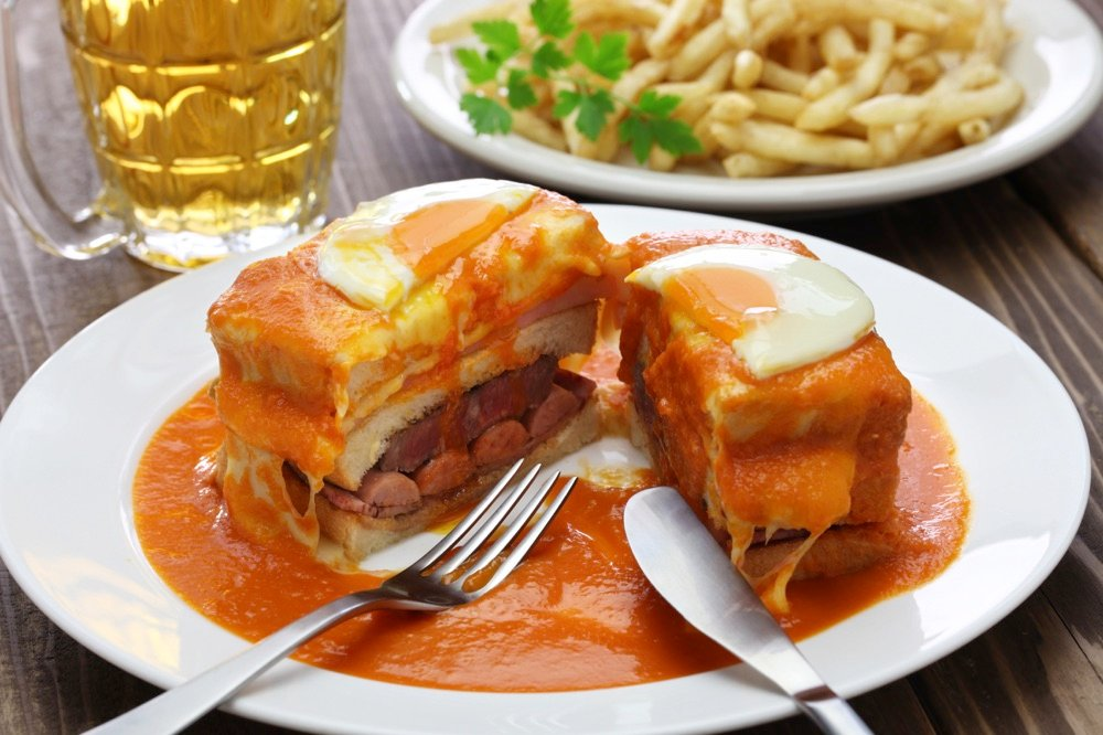 Francesinha sandwich food in portugal
