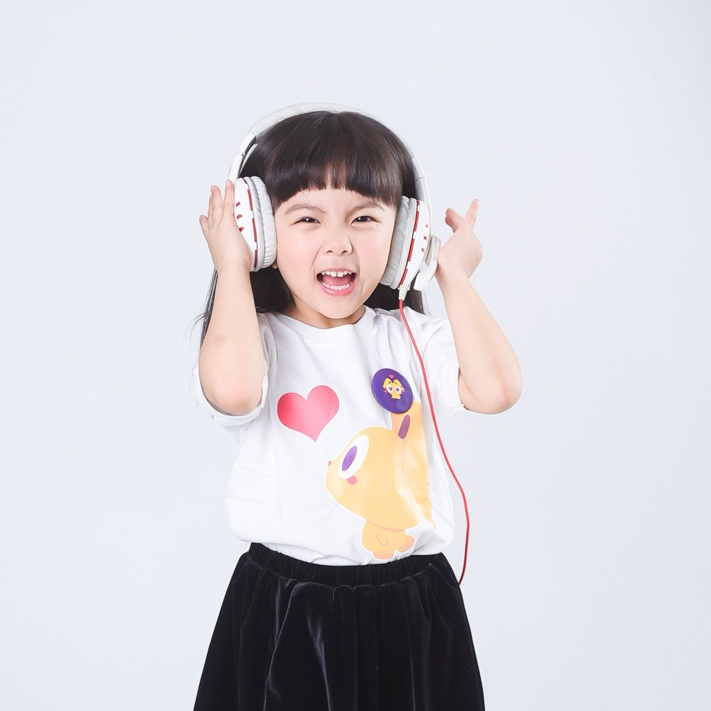 Girl with Headphones teaching english in china