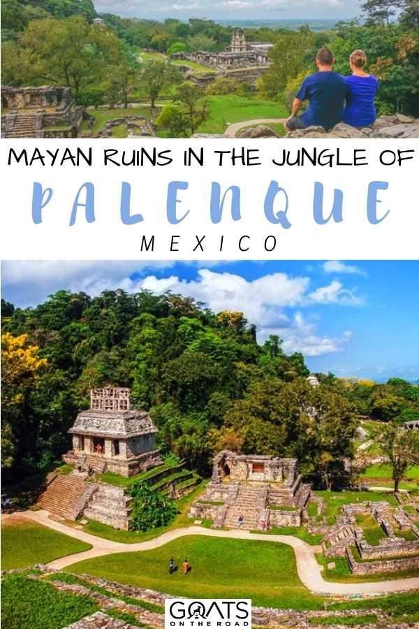 """""""Mayan Ruins in the Jungle Of Palenque, Mexico"""