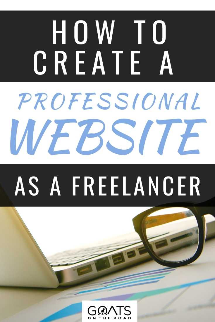 How To Create A Professional Website As A Freelancer