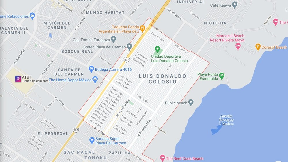 Donald Colosio areas in playa del carmen to live