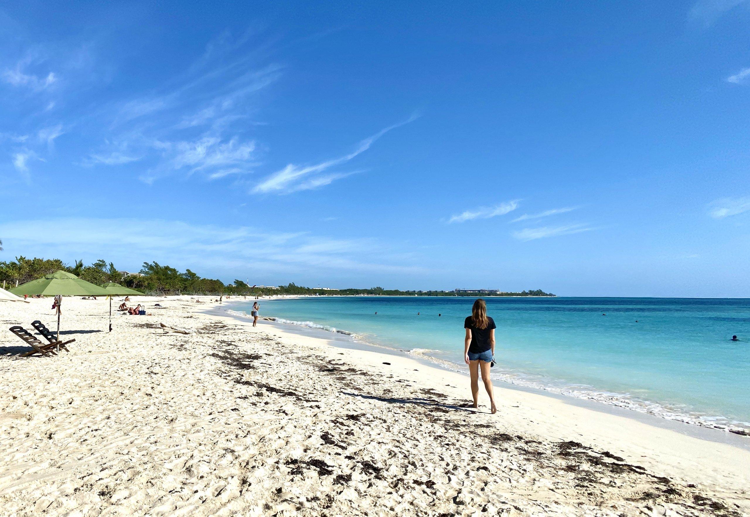 walking playa del carmen beach