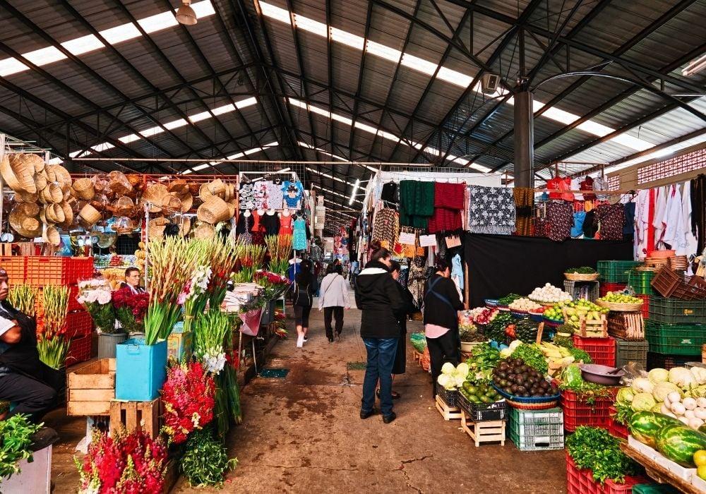 explore the public market in Puebla City