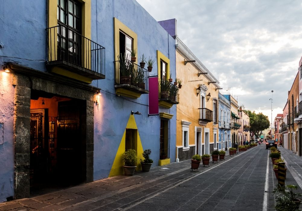 marvel the Callejon de los Sapos in Puebla city