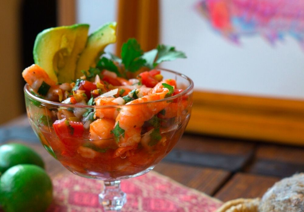 Mexican Acapulco style Shrimp cocktail