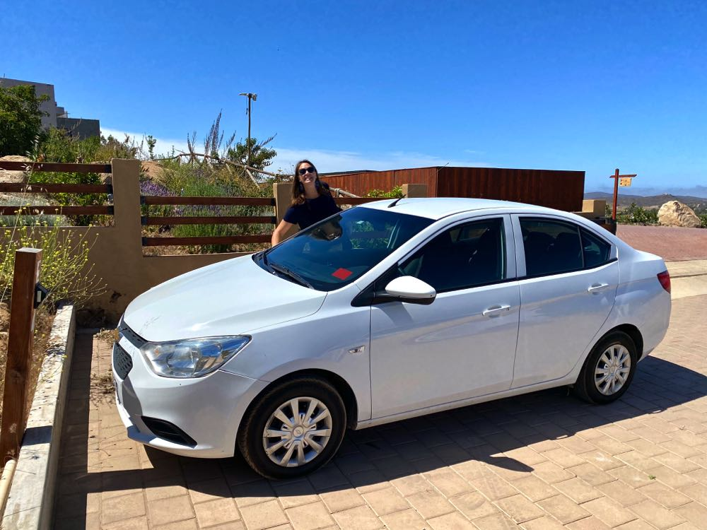 renting a car in the valle de guadalupe